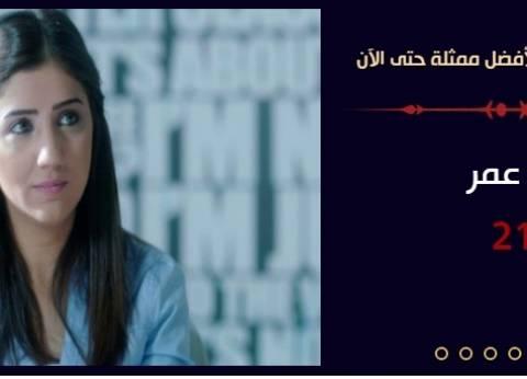 """مي عمر تتفوق على أمينة خليل وغادة عبدالرازق في استفتاء """"الوطن"""""""