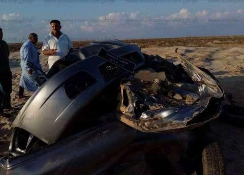 مصرع شخص في حادث تصادم على الطريق الدولي بدمياط