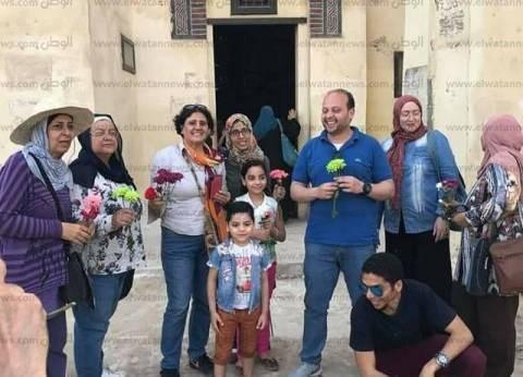 بالصور| وفد سياحي يزور معالم آثار فوه في كفر الشيخ