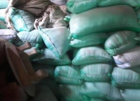 ضبط 20 طن أرز وسكر قبل بيعها في السوق السوداء
