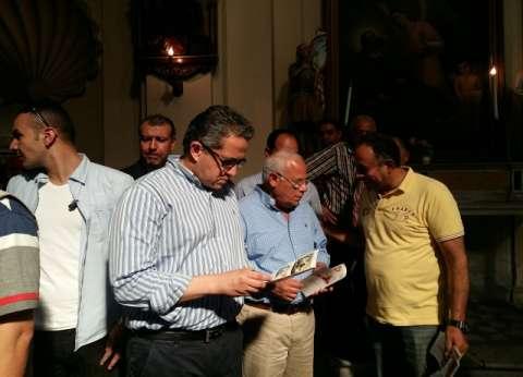 بالصور| وزير الأثار يبحث إعادة وضع تمثال ديليسبس بمدخل قناة السويس