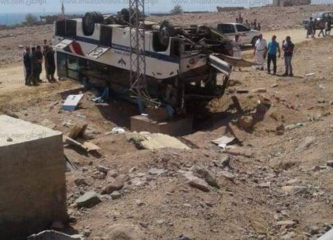 """نقل 5 حالات حرجة من مصابي حادث """"أتوبيس الرحلات"""" لمستشفى شرم الشيخ"""