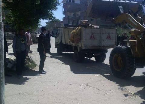 مصادرة 378 قضية اشغالات و43 قضية تموينية و22 بلاغ حرائق بشوارع الغربية