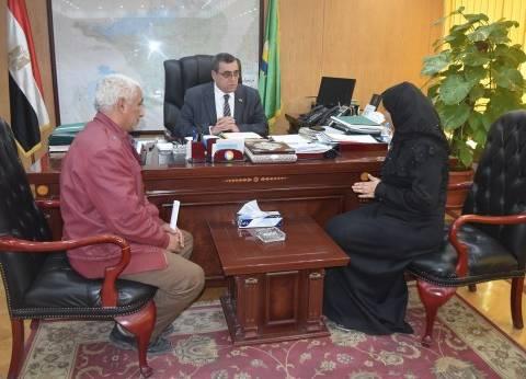 بالصور| محافظ الفيوم يوافق على إطلاق اسم أحد الشهداء على منشأة حكومية