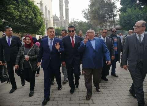 وزير التعليم العالى يشهد عدد من الافتتاحات الجديدة بكلية الطب و المستشفيات الجامعية بجامعة عين شمس