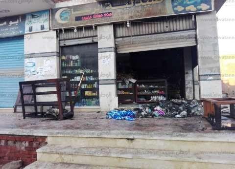 السيطرة على حريق بصيدلية في مدينة طور سيناء