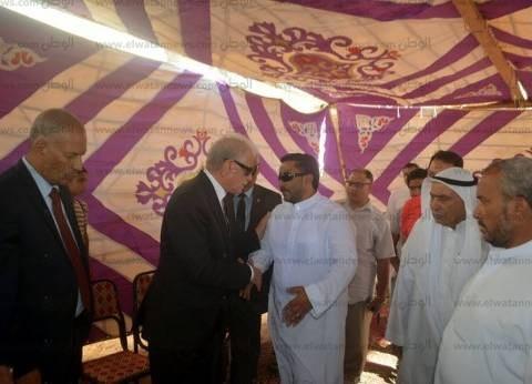 محافظ جنوب سيناء يعزي النائب غريب حسان في وفاة عمه