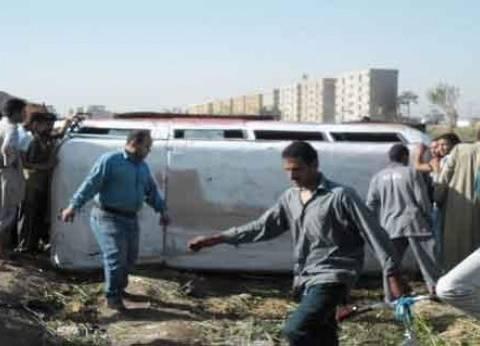 """مصرع طفل وإصابة 16 شخصا في انقلاب ميكروباص بطريق """"مطروح - الإسكندرية"""""""