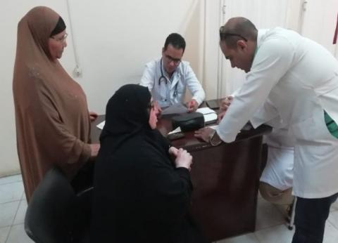 قافلة طبية تجري الكشف على1667 حالة في نجع العروبة بقنا