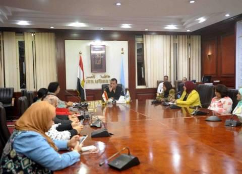 محافظ الأقصر يطالب بتكثيف حملات وأنشطه فرع المجلس القومي للمرأة
