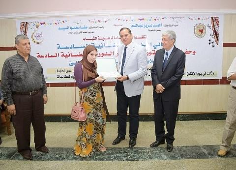 رئيس جامعة سوهاج يكرم حفظة القرآن الكريم