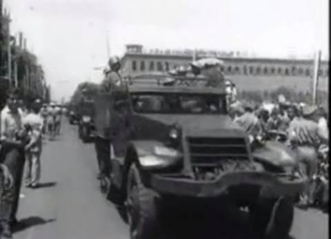 بالفيديو| قبل 65 سنة.. مراسم أول احتفال بـ23 يوليو: حفل شاي وعرض عسكري