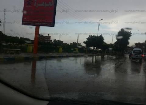 """الأمطار الغزيرة تقطع طريق """"إسكندرية - مطروح"""""""