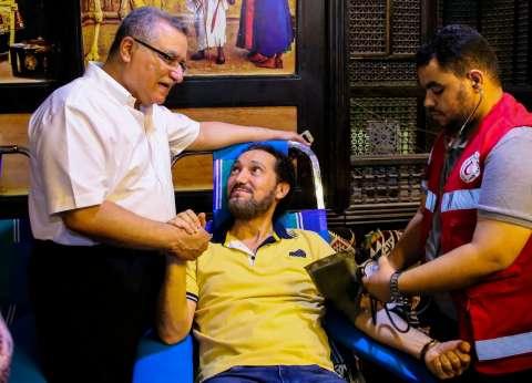 نصير شمة يشارك في حملة للتبرع بالدم: فرصة لإنقاذ حياة آخرين