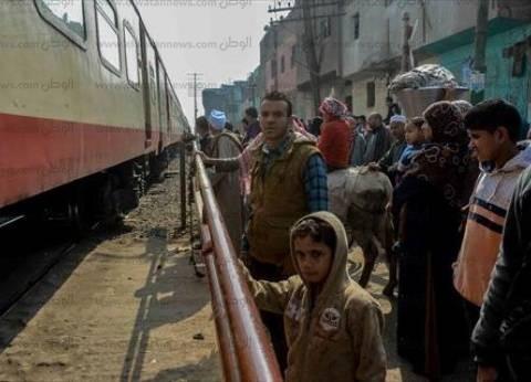 مصرع عامل صدمه قطار أثناء عبوره شريط السكة الحديد في المنوفية