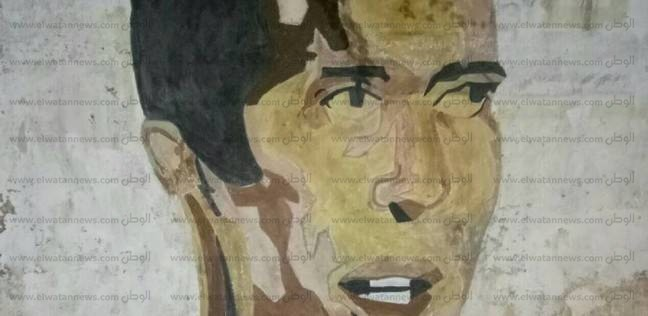 """بالصور  طالب يرسم جرافيتي لـ""""أبو تريكة"""" على جدارية في كفر الشيخ"""