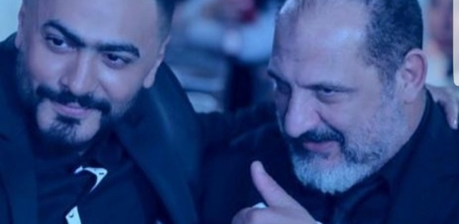 """بالصور  حفل عشاء لتامر حسني وخالد الصاوي استعدادا لـ""""حمزة"""""""