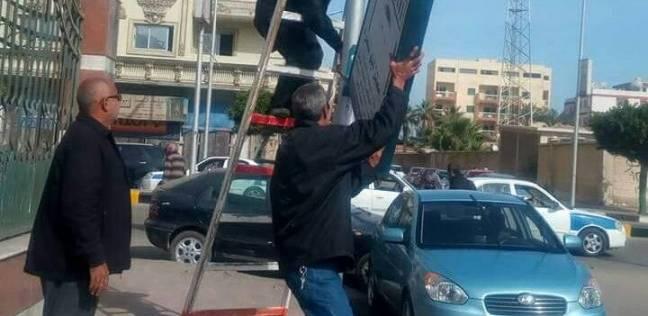 استكمال حملة إزالة الإشغالات بعرب بورسعيد