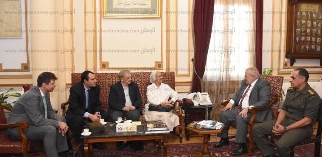 وفد كنسي كاثوليكي يزور رئيس جامعة القاهرة