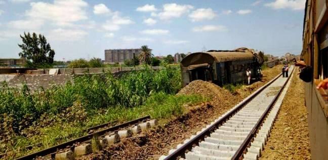 عاجل| خروج المصابين الأربعة في حادث تصادم «قطار المنيا»