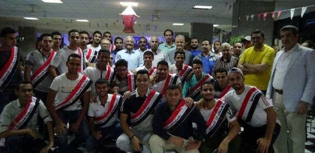 إفطار جماعي لرئيس جامعة المنيا ونوابه مع طلاب المدن الجامعية