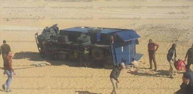 إصابة 18 مجندا في انقلاب سيارة ترحيلات بالدقهلية