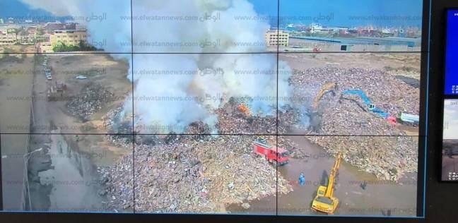 حريق محدود بساحة مخصصة لتخزين الخردة في ميناء دمياط