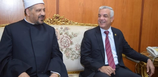 رئيس جامعة المنوفية يستقبل المستشار الأكاديمي لمفتي الديار المصرية