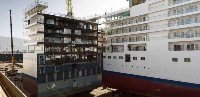 ميناء غرب بورسعيد يستقبل 173 سيارة