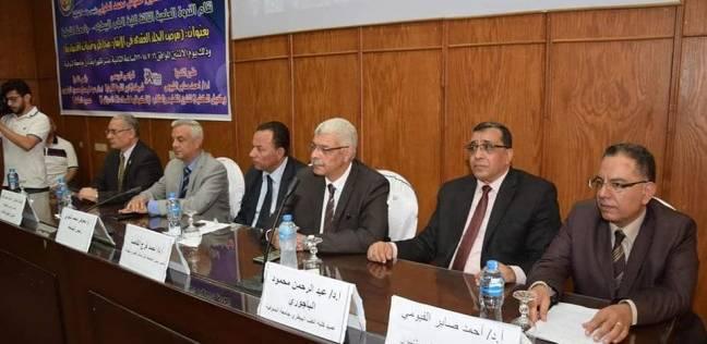 """رئيس جامعة المنوفية يفتتح ندوة مرض الجلد العقدي بعنوان """"مخاطر وتحديات"""""""