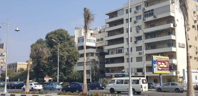 بالصور  طلاء واجهات عقارات شارع الميرغني في مصر الجديدة
