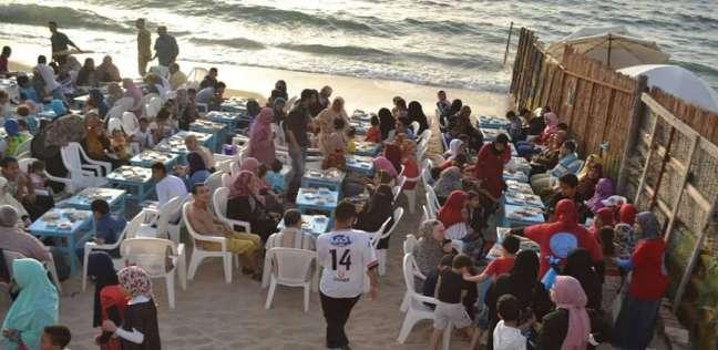 إفطار جماعى لـ«الأرامل والمطلقات ومتحدى الإعاقة» على شاطئ البوريفاج