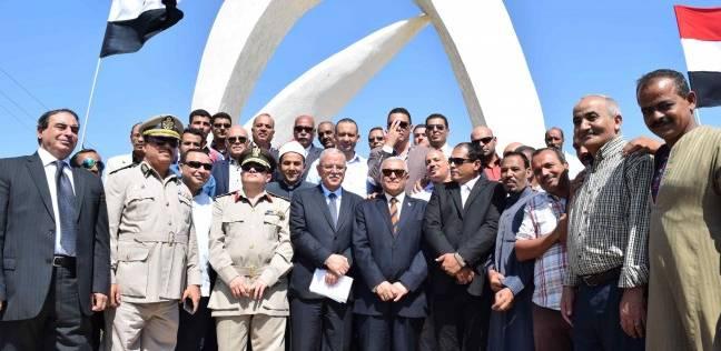 محافظ المنيا يفتتح ميداني الشهداء والسلام بالتزامن مع احتفالات أكتوبر