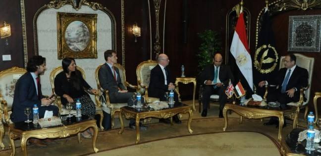 مجدي عبد الغفار يستقبل وزير الدولة البريطاني لشؤون الشرق الأوسط