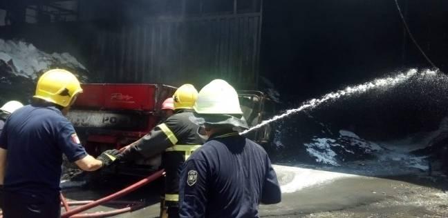 السيطرة على حريق شب بمصنع بلاستيك في القناطر الخيرية