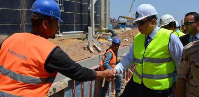 سعفان يتفقد إجراءات السلامة المهنية لعمال محطة مياه العين السخنة
