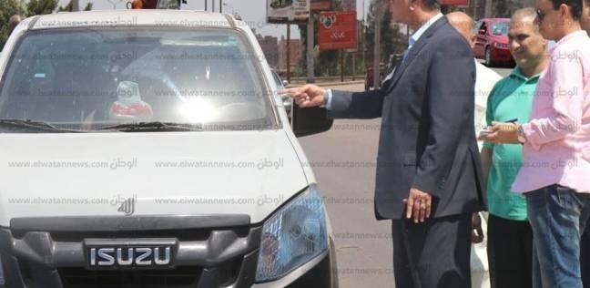 محافظ كفر الشيخ يضبط سيارة مجهولة بدون لوحات تحمل دراجة نارية