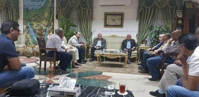 محافظ جنوب سيناء يستعرض المرحلة الثانية لحماية المحافظة من أخطار اسيول