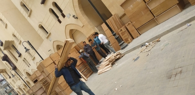 بالصور  بدء فرش «الأسمرات 3» تمهيدا لافتتاحها بعد شهر