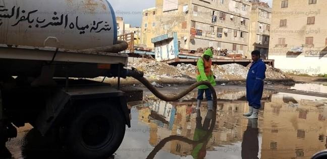 غلق بوغاز البرلس بعد سقوط أمطار غزيرة في كفر الشيخ