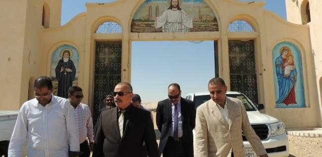 مدير أمن المنيا يتفقد أديرة الأنبا صموئيل والعذراء والملاك ميخائيل
