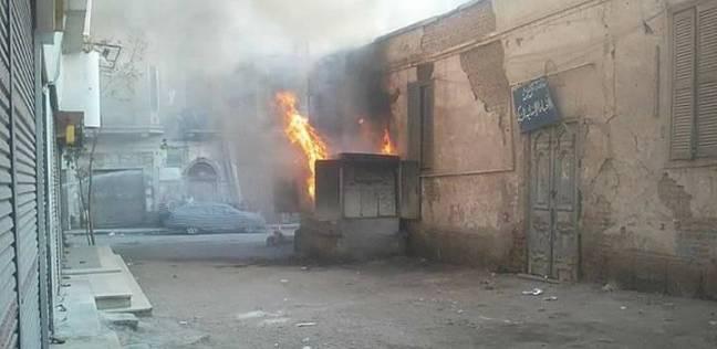 السيطرة على حريق بمحول كهرباء في سوهاج