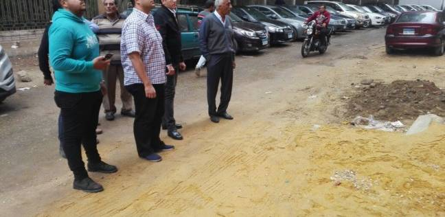 رئيس حي العجوزة يتفقد أعمال توسعة شارع السودان