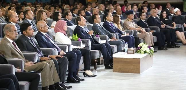 """عاجل  السيسي يفتتح مؤتمر جامعة القاهرة: """"بقوة شبابها ستحيا مصر دائما"""""""