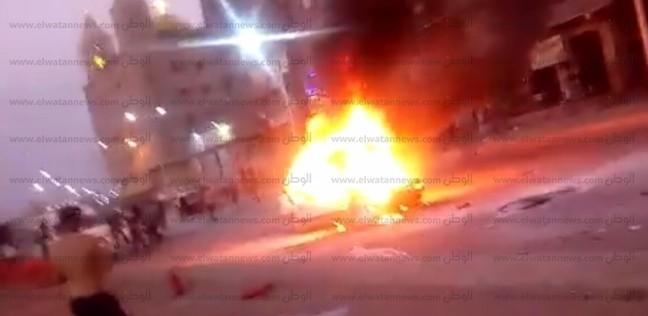 السيطرة على حريق في سيارة على الطريق الدائري بشبرا الخيمة