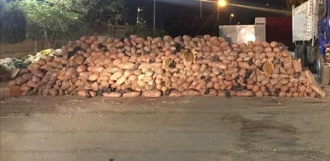 ضبط سيارة بداخلها 2 طن بانجو طريق نفق الشهيد أحمد حمدي بالسويس