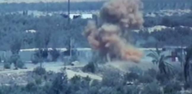 بالفيديو  القوات الجوية تستهدف بؤرا إرهابية في سيناء