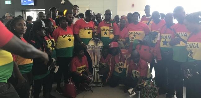 مصر   وصول مشجعي منتخب غانا إلى مطار القاهرة استعدادا لمباراة الكاميرون