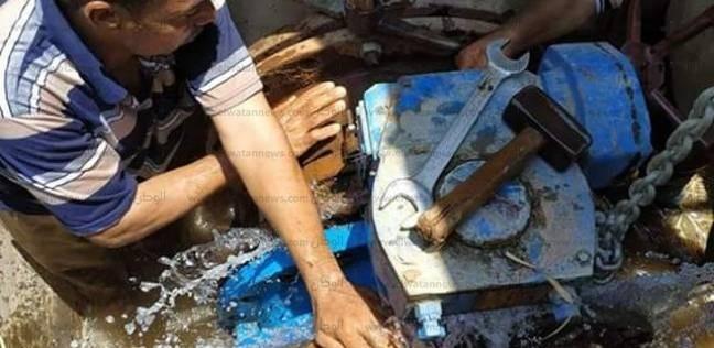 """""""مياه القناة"""" تنهي إصلاح وصيانة محبس الداودية بالإسماعيلية"""