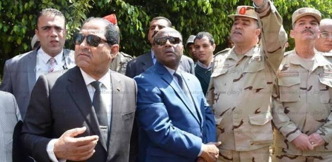 محافظ الغربية ومدير الأمن يتقدمان جنازة الشهيد مرسي محمد بالدلجمون